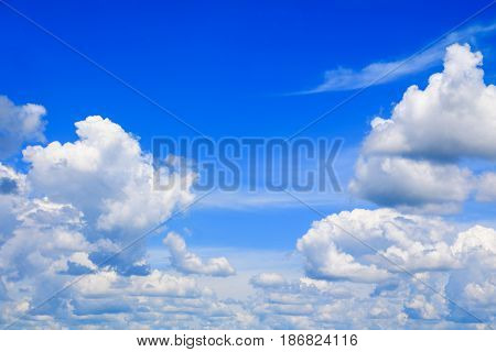 blue sky with rain cloud in summer art of nature beautiful and copy space for add text