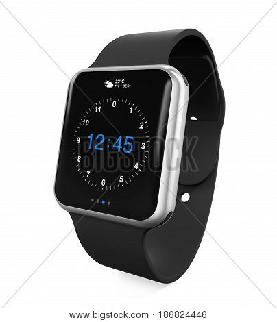 Smart Watch isolated on white background. 3D render