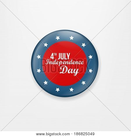 Stylish american independence day design. Badge and label isolated on white background for Independence Day. Happy Independence Day greeting card. Independence Day design. Vector illustration