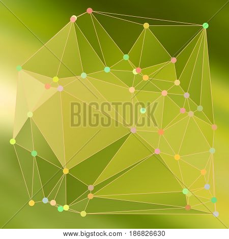 Modern Abstract Background Triangles 3D Effect Glowing Light60