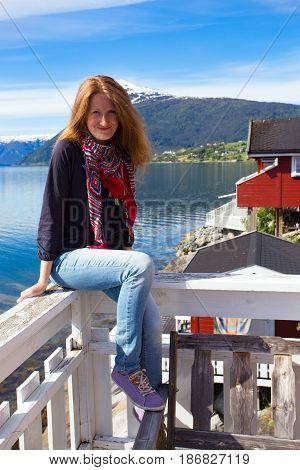 Girl On A Terrace
