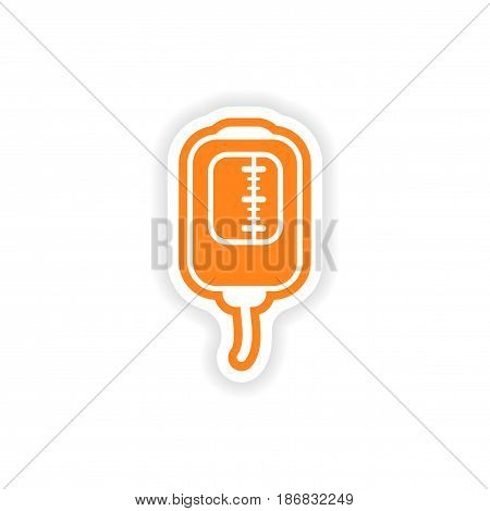 paper sticker on white background medical dropper