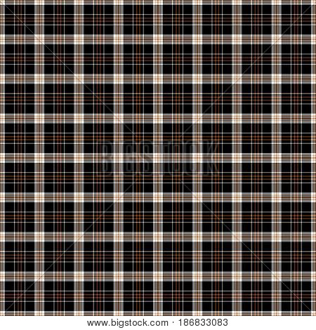 Black red and white plaid tissue seamless pattern