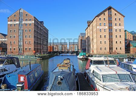 Victorian warehouses by Gloucester dock canal basin