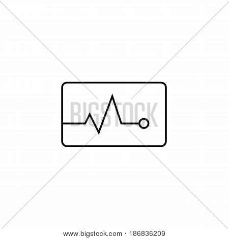 Heartbeat line icon,  Element of medical and pulse sign , vector graphics, a linear pattern on a white background, eps 10.