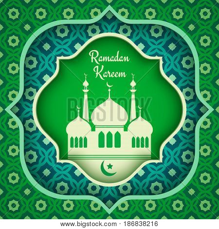 Vector greeting card for Ramadan. Ramadan Kareem