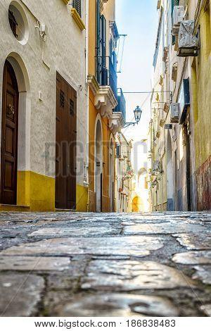 Charming Street Of Gallipoli, Puglia, Italy