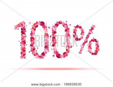 100 (one Hundred) Percent. Pink Rose Petals