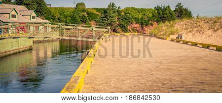 Bridge over the water at a park in PEI