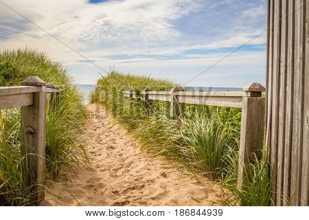 Sandy path to beach in Prince Edward Island