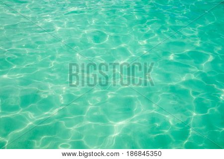 Close up Emerald water sea nature texture and background