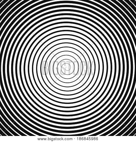 black spiral on white. abstract vector background