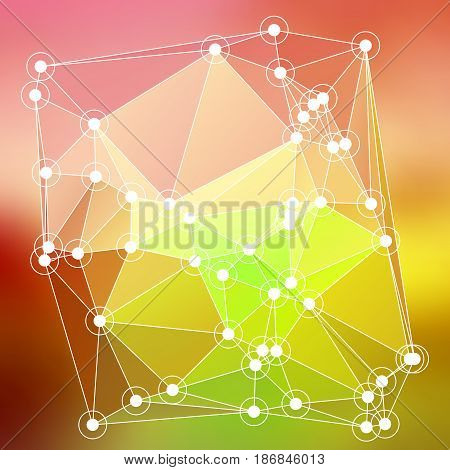 Modern Abstract Background Triangles 3D Effect Glowing Light74