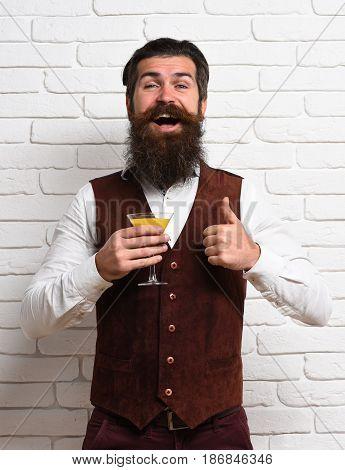 Smiling Handsome Bearded Man
