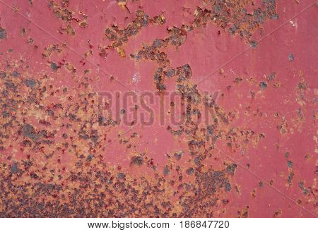 Dark worn red rusty metal texture background. Can be use for background.