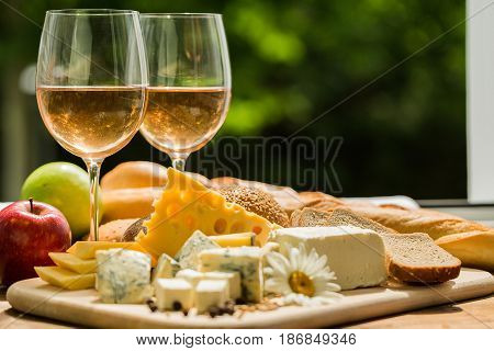 Cheese wine blue cheese emmental cheese assortment assorted closeup