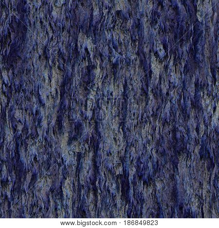 Seamless texture hanging down worn-out ripped rags night purple cloth or paper. Pattern of rustic fabric material