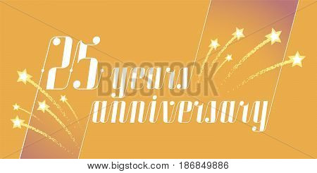 25 years anniversary vector icon logo. Graphic design element or banner for 25th anniversary