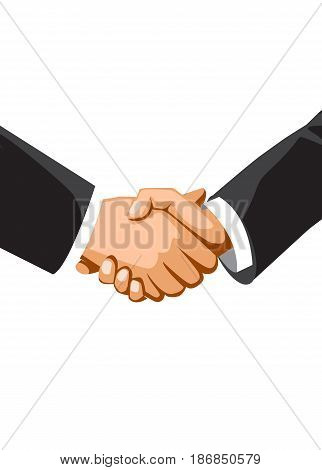 Handshake of business people. Vector illustration concept