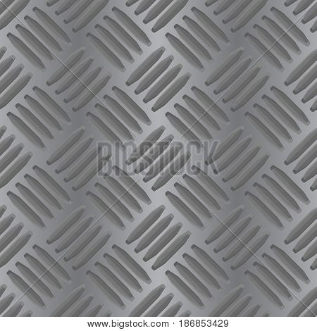 Metal non slip background. Seamless pattern. Vector illustration