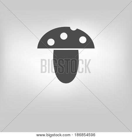 vector edible mushroom icon illustration on background