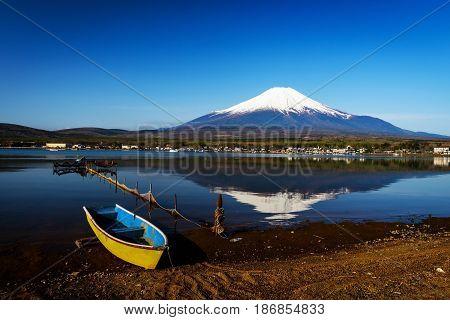 Wooden Boat On Yamanaka Lake