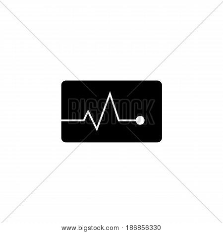Heartbeat solid icon,  Element of medical and pulse sign , vector graphics, a filled pattern on a white background, eps 10.