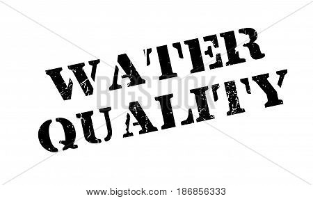 Water Quality rubber stamp. Grunge design with dust scratches. Effects can be easily removed for a clean, crisp look. Color is easily changed.