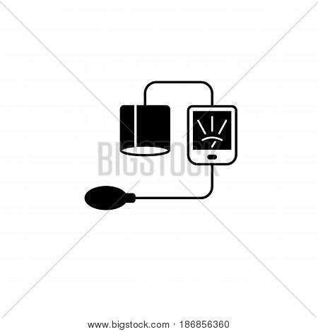Blood sphygmomanometer solid icon,  Element of medical and Blood pressure sign, vector graphics, a filled pattern on a white background, eps 10.
