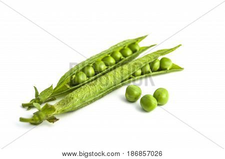 Pictures of peas and pea grains with white background on peas back to the cannon pea box