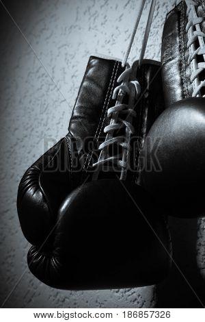 Sport sports equipment wall boxing box boxing glove pair