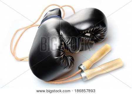 Boxing black glove protection punch sport knock