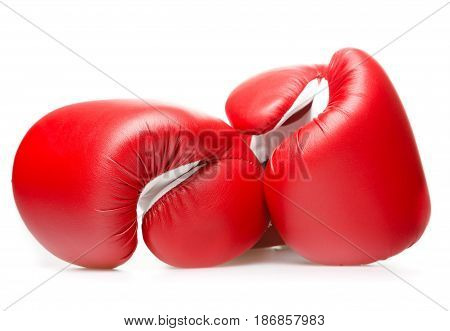 Boxing glove protection punch knock hand red