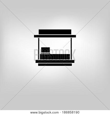 vector icon store kiosk iluustration on background