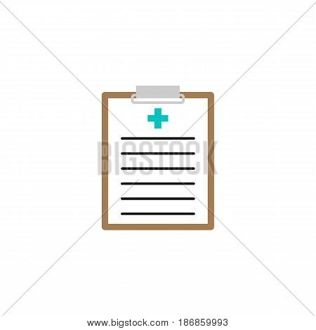 Medical clipboard solid icon, medical form and disease history, vector graphics, a colorful linear pattern on a white background, eps 10.
