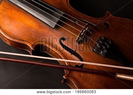 Violin bow string isolated music orchestra wood