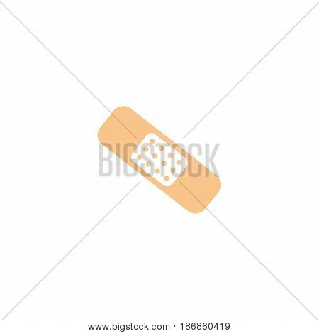 Medical plaster solid icon,  Element of medical and aid band sign, vector graphics, a colorful linear pattern on a white background, eps 10.