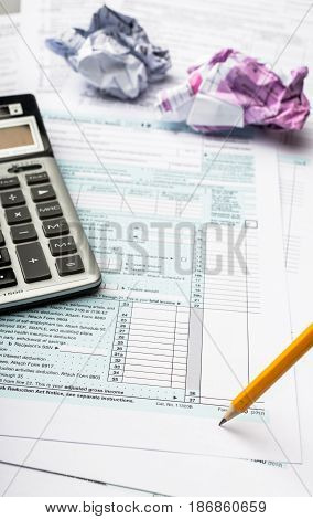 Frustration form taxes document irs doing taxes
