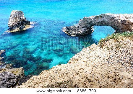 Bridge of lovers with sea views in Ayia Napa. Cyprus