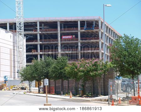 Dallas,USA,17th May 2017. The new flight training facility at Southwest Airlines Corporate Campus adds to the campus complex in a big way. This building and the recently opened Operations Center Building will be connected with aerial trams-walkways at a h