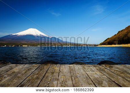 Lake Yamanaka With Mt. Fuji View
