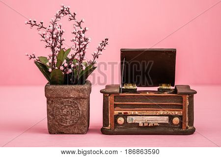 Decorative Retro Record Player