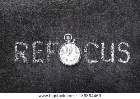 Refocus Word Watch
