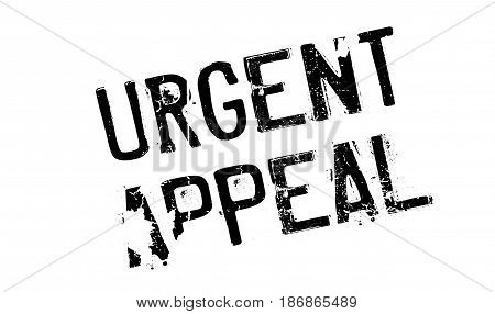 Urgent Appeal rubber stamp. Grunge design with dust scratches. Effects can be easily removed for a clean, crisp look. Color is easily changed.