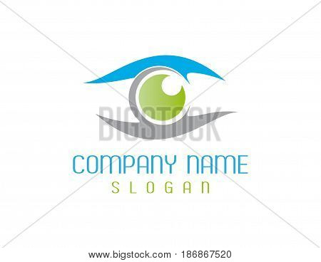 abstract optometrist logotype on a white background