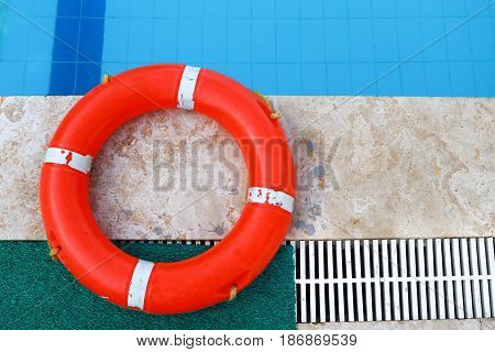 Safety equipment, Life buoy or rescue buoy. rescue people from drowning man.