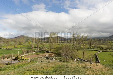 The Village Of Peracuelles In The Province Of Cantabria