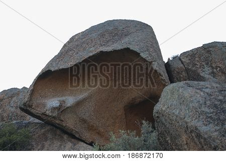 Stone near Bafa Lake in Mugla - Turkey. Rocks formations.