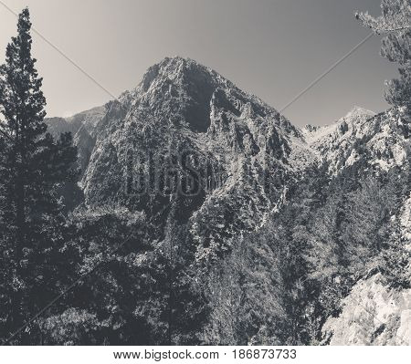 Samaria Gorge. Crete. Greece. Blackand white toning.
