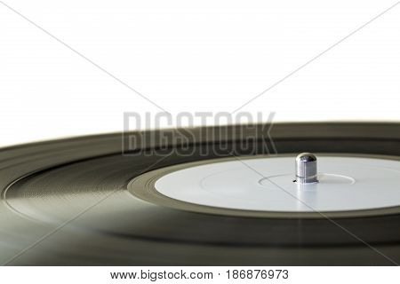 Record turntable gramophone blank vinyl close up vinyl gramophone record